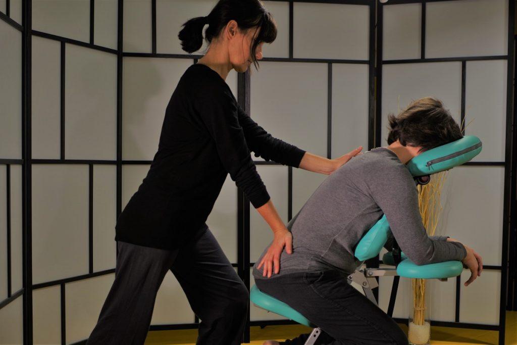 shiatsu sur chaise